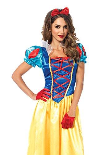 Leg Avenue Women's 2 Piece Classic Snow White Costume, Multi, Large