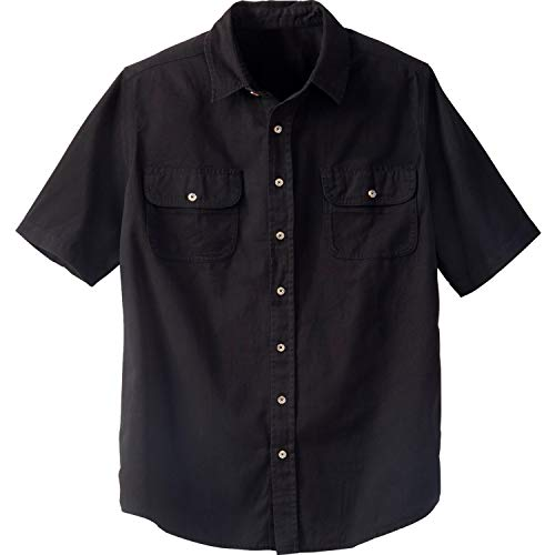 Boulder Creek Men's Big & Tall Short-Sleeve Renegade Shirt, Black Big-5XL