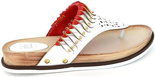 Mères Spéciales Nouvelles Lanières Blanches Flops Sandale Gladiateur Chaussure Blanc Slip On
