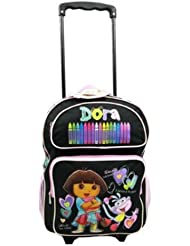 Dora The Explorer Large Rolling BackPack - Dora Large Rolling