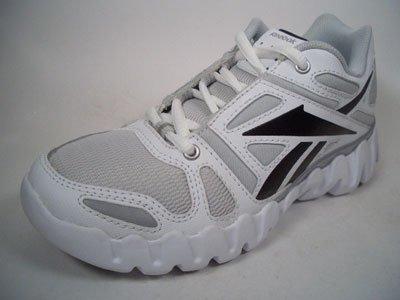 Reebok - Zapatillas de running de material sintético para niño blanco Weiß-Schwarz 30.5