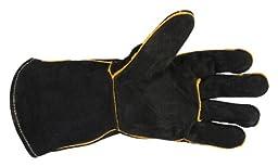 Forney 53425 Black Leather Men\'s Welding Gloves, Large