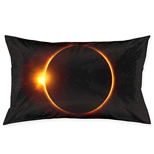 Kidhome 2030 Inch Throw Pillow Cases Solar Eclipse Decorative Pillowcase Cushion Cover for Sofa]()