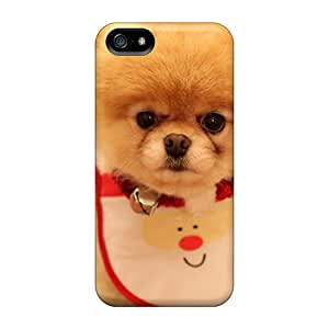 Anti-scratch And Shatterproof Cute Dog Christmas Phone Case For Iphone 5/5s/ High Quality Tpu Case