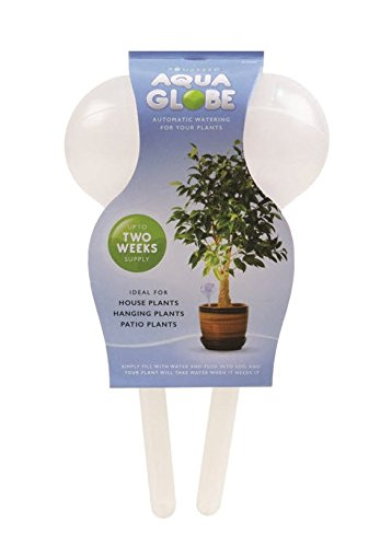 2 x Aqua Globes Plant Self Watering System Hanging Baskets Bulbs Feed Indoor Out Watering Globes