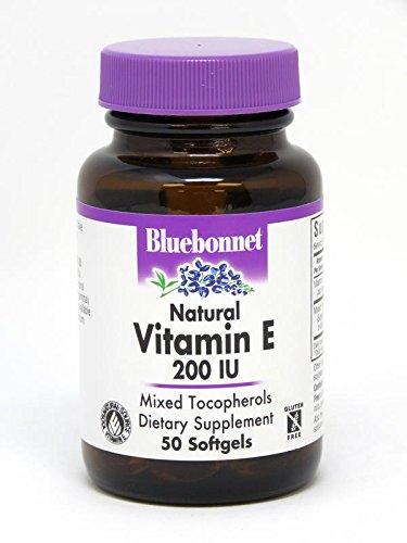 BlueBonnet Vitamin E 200 IU Mixed Softgels, 50 Count