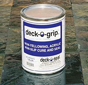 Deck-O-Grip Water Based Slip-Resistant Concrete Pool Deck Sealer - Swimming Pools, Patios, Sidewalks Porches 3466210 2 Gallons