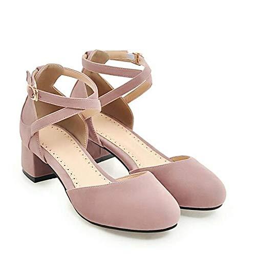QOIQNLSN Zapatos De Mujer Suede Primavera Comodidad Tacones Chunky Talón Gris/Negro / Morado Purple