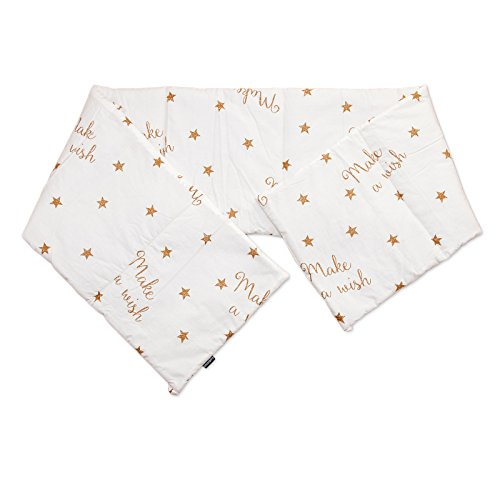 Baby Make a wish / SoulBedroom Cotton Cot Bumper Pad Half (210x40 cm) by SoulBedroom