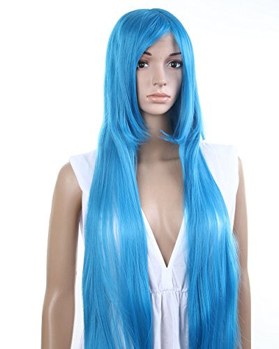 """39"""" Long Straight Costume Play Party Wig (Model: Jf010072),Blue"""