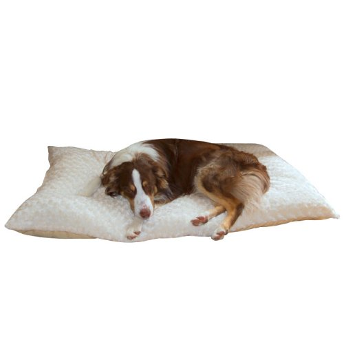 PAW Lavish Cushion Pillow Furry Pet Bed - Latte - Small