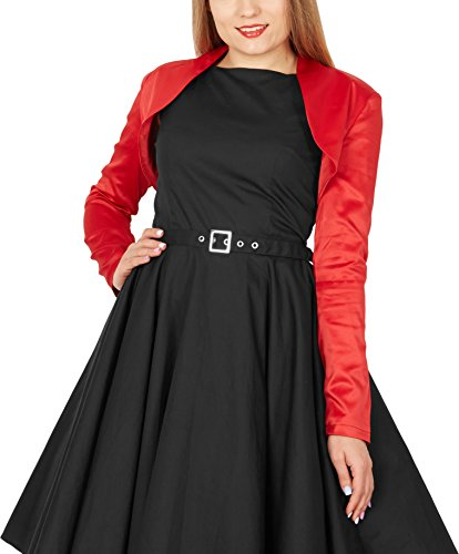 Bolero Larga Rojo Manga BlackButterfly Formal Satén wzqZZ1