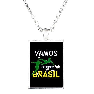 Love Brazil Soccer Game Players Go Team Brasil Gift Idea - Necklace