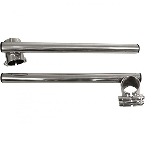 Emgo 7/8in. Steel Clip-on Handlebars - 35mm Fork Tube - Chrome, Handle Bar Size: 7/8in., Color: Chrome 23-93121 by Emgo