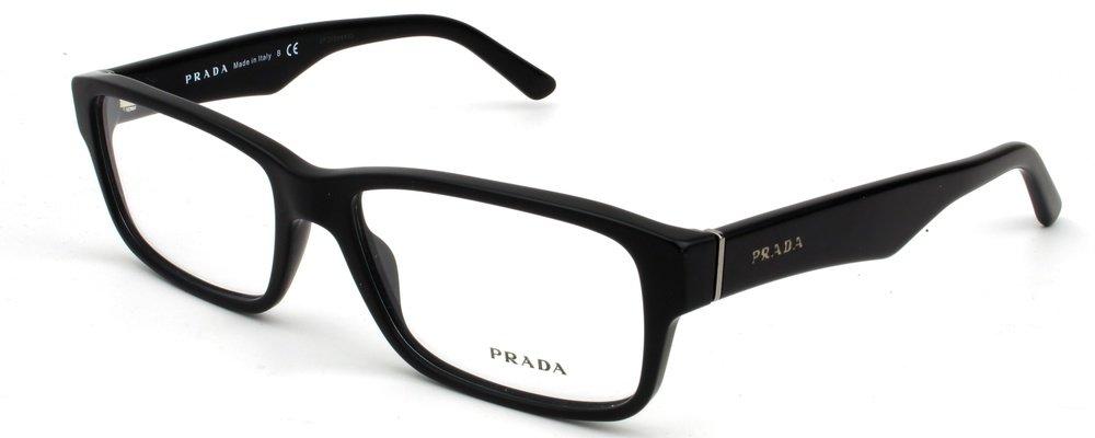 Prada Eyeglass Frames PR16MV 1BO1O1-55 - Matte Black PR16MV-1BO1O1-55