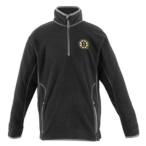 - Boston Bruins YOUTH Unisex Ice Polar Fleece Pullover (Color: Black) - X-Large