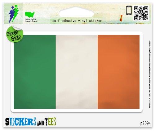Ireland Flag Grunge Design Vinyl Car Bumper Window Sticker 3