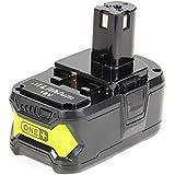 LENOGE Ryobi P108 RB18L50 18V 5.0Ah Batterie de Lithium-ion de haute performance pour RYOBI One Plus P108 P107 P105 P104 P103 P102 P100 BPL-1815 BPL-1820G BPL18151 BPL1820 Compatible avec Pour RYOBI One plus 18V P200 P300 P400 P500 P600 P700 P2000