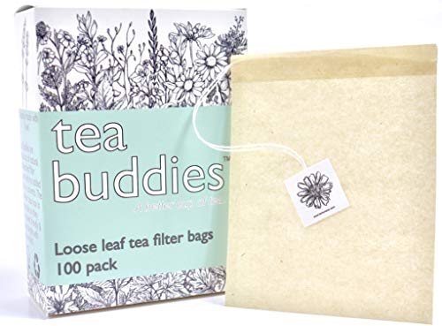 Simple, Fast, All Natural Tea Filter Bags for Loose Leaf Tea, Coffee, Spice's. 100 Empty Tea Bags With Drawstring - Eco Safe Unbleached Material - Disposable Tea Infuser Sachets ()