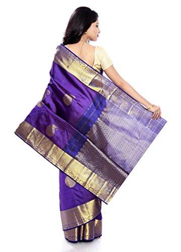 Mandakini — Indian Women's Kanchipuram - Handloom - Pure Silk Saree (Magenta ) (MK241) by Mandakini (Image #4)