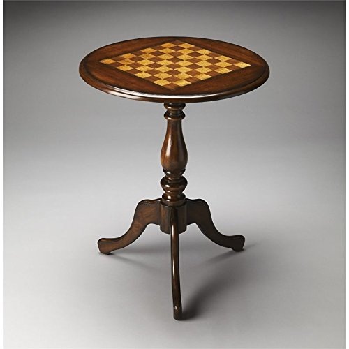 Beaumont Lane Round Game Table in Dark Brown by Beaumont Lane