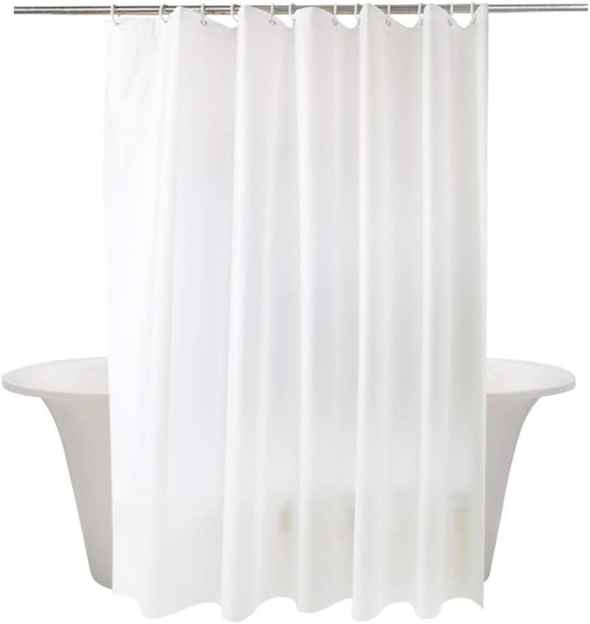 momony impermeable color blanco sólido cortina de ducha de tela ...