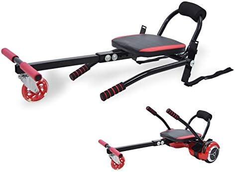 Riscko Wonduu Asiento Kart para Patinete Eléctrico, Silla Self Balancing Compatible con Todos los Patinetes Eléctricos de 6.5, 8 y 10 Pulgadas Negro: Amazon.es: Deportes y aire libre