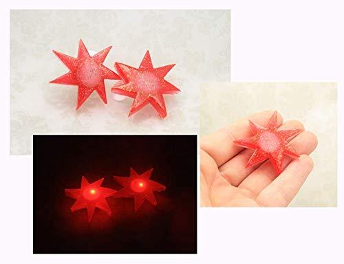 Jem Holograms Blinking Led Resin 1.5 Inch Star Earrings -