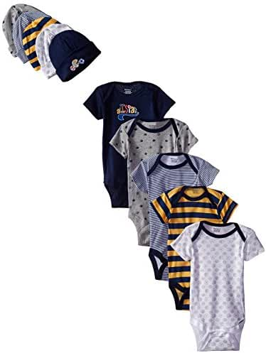 Gerber Baby Boys' 10 Piece Onesies and Cap Bundle