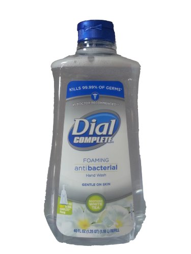 Dial Complete Foaming Antibacterial Hand Wash, Soothing White Tea 40 oz