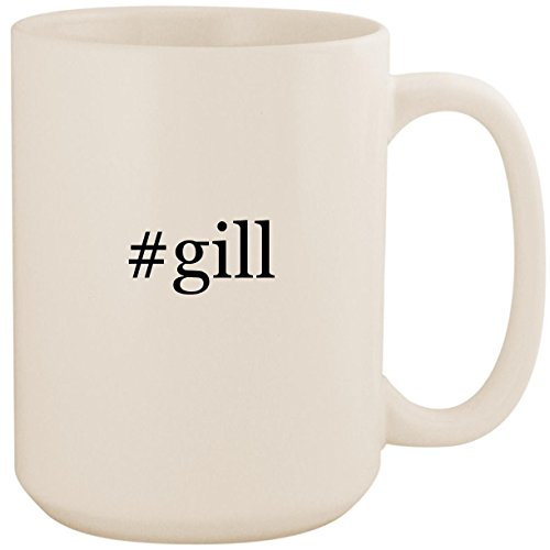 #gill - White Hashtag 15oz Ceramic Coffee Mug Cup ()
