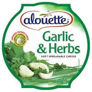 Cream Cheese Spread Herb - ALOUETTE CHEESE SOFT SPREADABLE GARLIC & HERB 6.5 OZ PACK OF 3