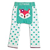 Izzy & Owie Baby Girl Leggings Fox, 6-12 Month Blue