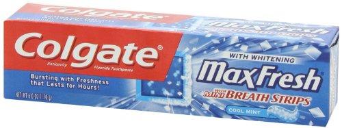 Colgate Max fraîche Dentifrice Mini bandes de souffle, menthe fraîche, 6 onces