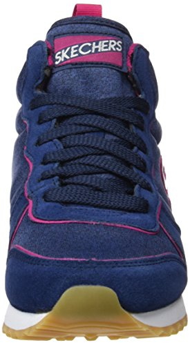 Azul Heights Zapatillas 85 OG Nvpk Deporte Mujer Heather'd Originals de Skechers para qA1w7v