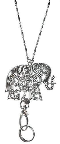 Hidden Hollow Beads Elephant Pendant Lanyard Necklace 34