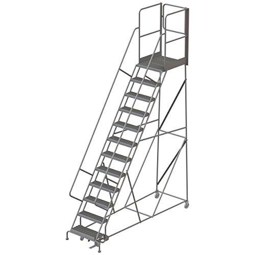 Ladder Rolling Steel - Tri-Arc RWSR112242-XR 12-Step Gateway Rear-Exit Steel Rolling Ladder with 30