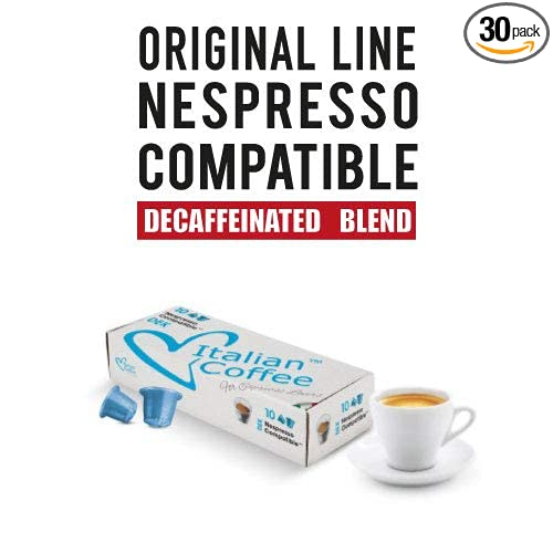 Decaf capsules, Nespresso compatible pods, by Italian Coffee (Decaffeinated Espresso, 30 pods): Amazon.com: Grocery & Gourmet Food