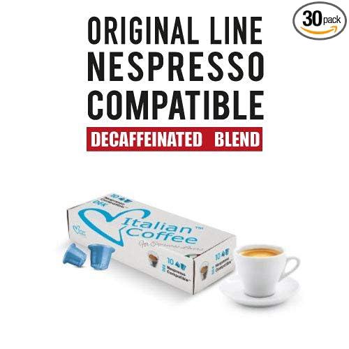Decaf capsules, Nespresso compatible pods, by Italian Coffee (Decaffeinated Espresso, 30 pods): Amazon.com: Grocery & Gourmet Food