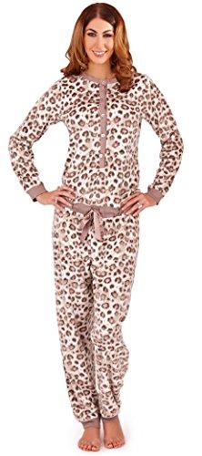 LD Outlet - Pijama de una pieza - Manga Larga - para mujer Cream/Taupe