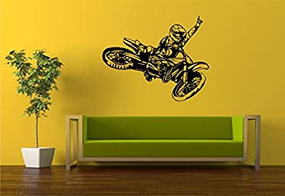 Dirtbike Rider Version 112 Wall Decal Sticker Mx X Games Trick Racing Motorcycle Series Wall Decal Sticker Teen Room Decor
