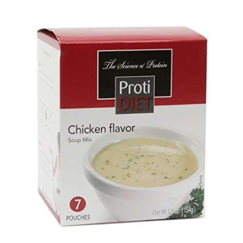 ProtiDIET Soup Nutritional Supplement 7 Pouches (5.4 oz) | Low Calorie Instant Soup With High Protein & Delicious Soup Mix (Chicken)