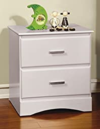 Furniture of America Kolora Youth Nightstand, White