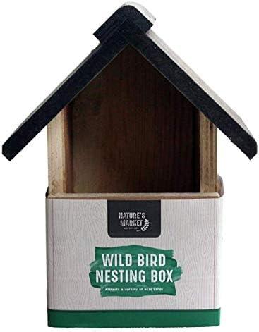 Caja nido de madera para pájaros de Kingfisher, para pájaros de jardín y salvajes.: Amazon.es: Jardín