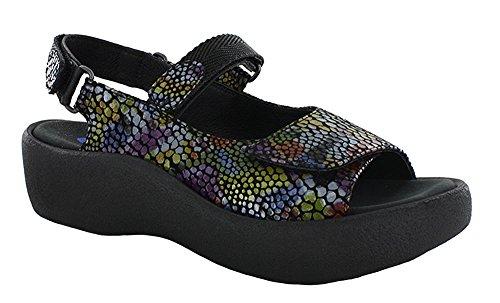 WOLKY Womens Sandals 3204 Jewel Black Fantasy, Size-37 Wolky Jewel