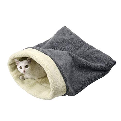Cat Bed Cave Sleeping Bag, Pet Mat Self Warming Pad Sack for Cats and Small Dog