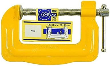 (業務用30個セット) H&H 鋼製Cクランプ/締め具 【75×38mm】 C-7538 イエロー(黄) ds-1749041