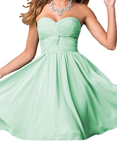 Olivia's Sweetheart Lace up Bridesmaid Dresses Chiffon Party Dresses For Wedding Cheap