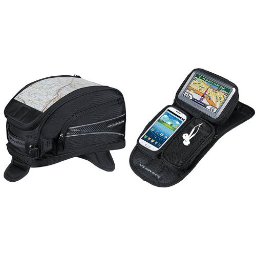 Nelson-Rigg CL-2015-MG Black Magnetic Mount Journey Sport Tank Bag and  CL-GPS-MG Black Magnetic Mount Journey GPS Mate Bundle