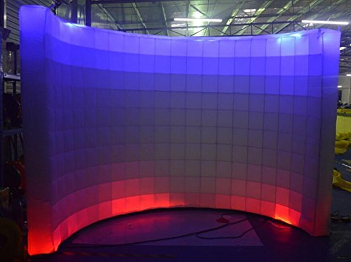 Inflatable LED White Photo Booth Wall Advertising with Blower by KUNHEWUHUA